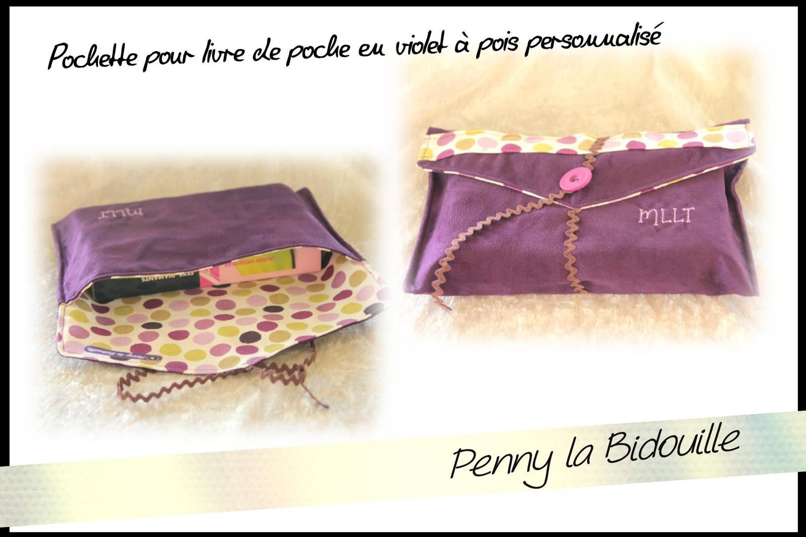 pochettes livres personnalis es le blog de penny la bidouille. Black Bedroom Furniture Sets. Home Design Ideas
