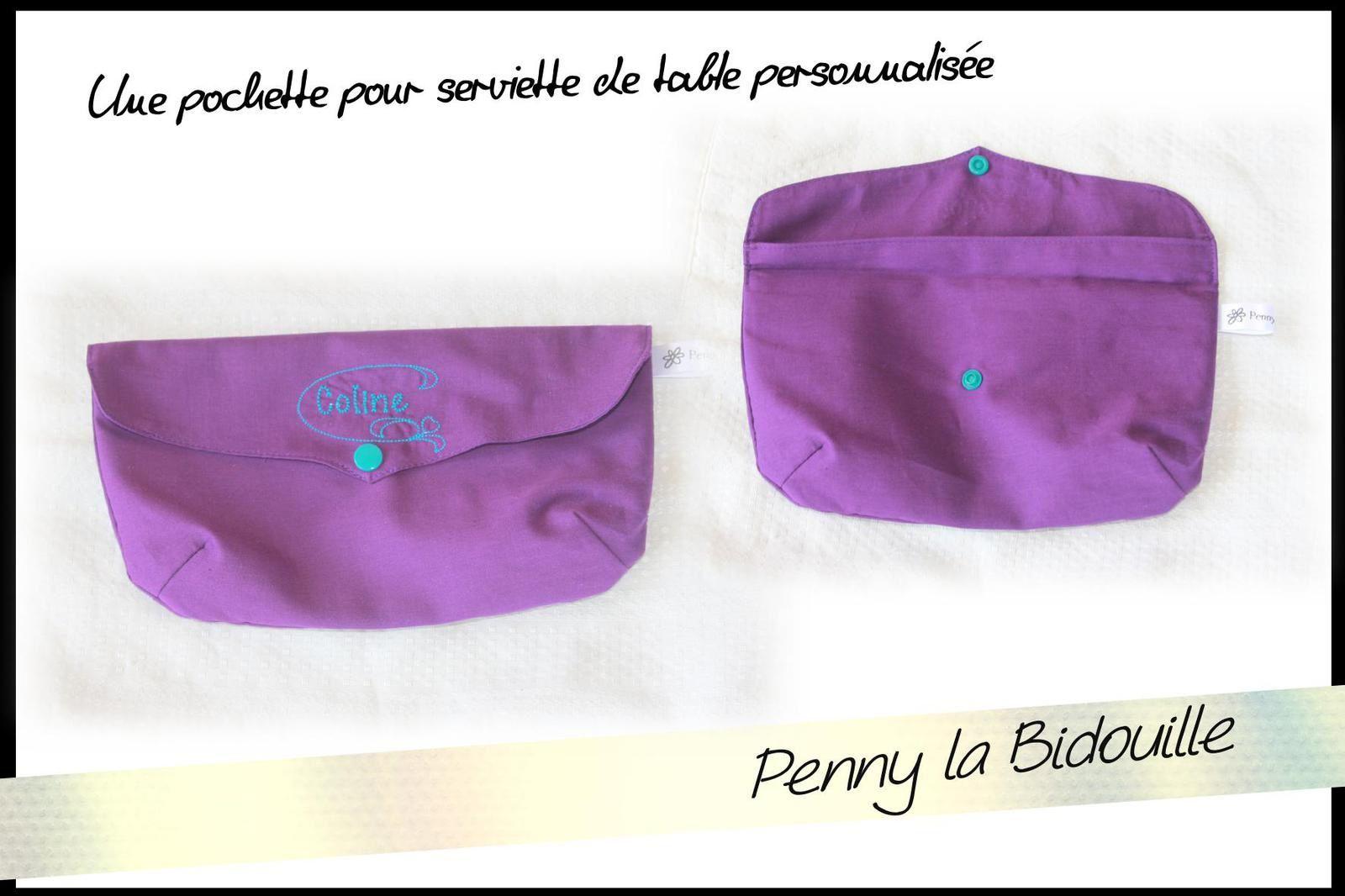 pochette pour serviette de table personnalis e le blog de penny la bidouille. Black Bedroom Furniture Sets. Home Design Ideas