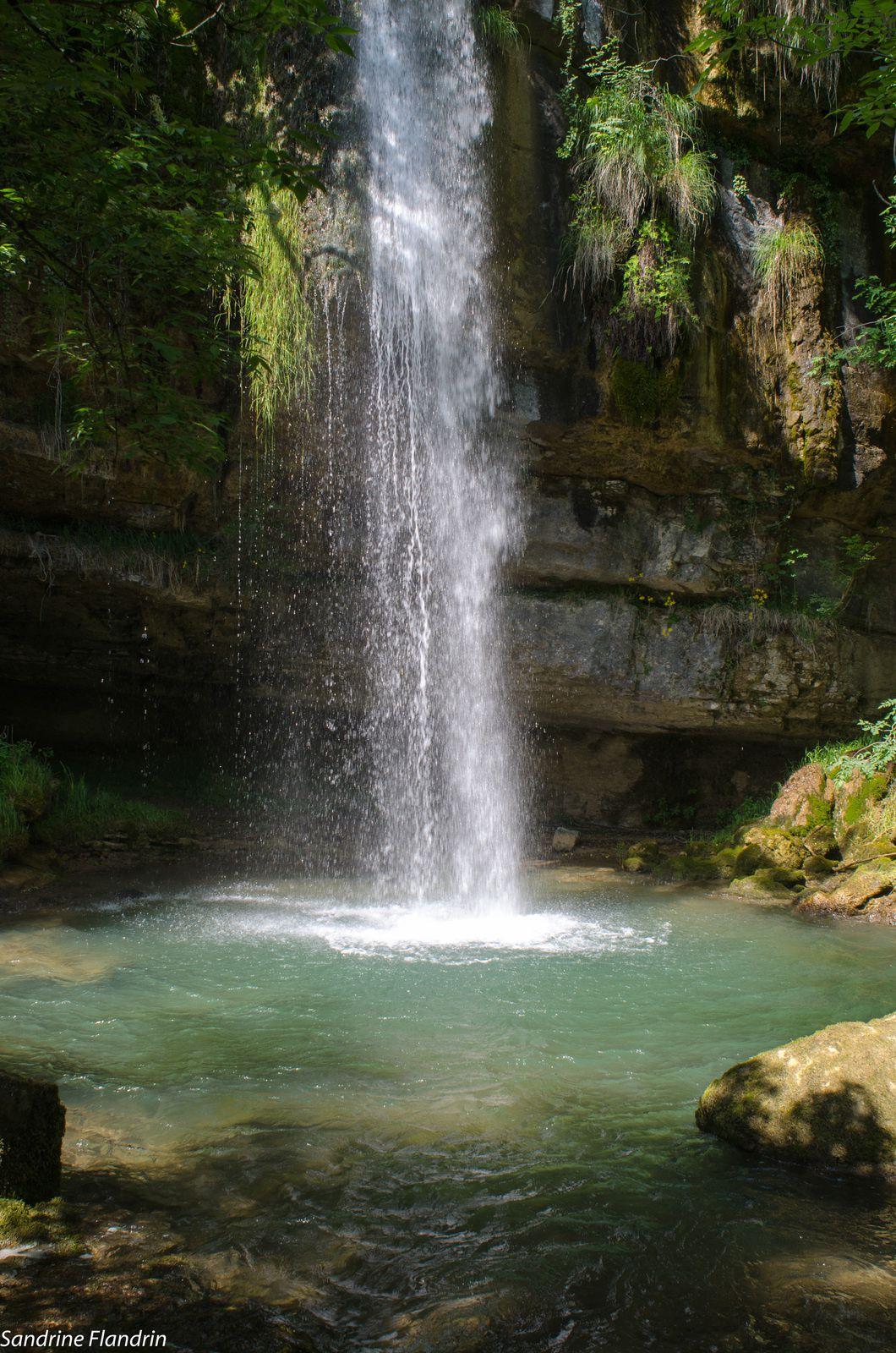 Vue de la troisième cascade des Dards.