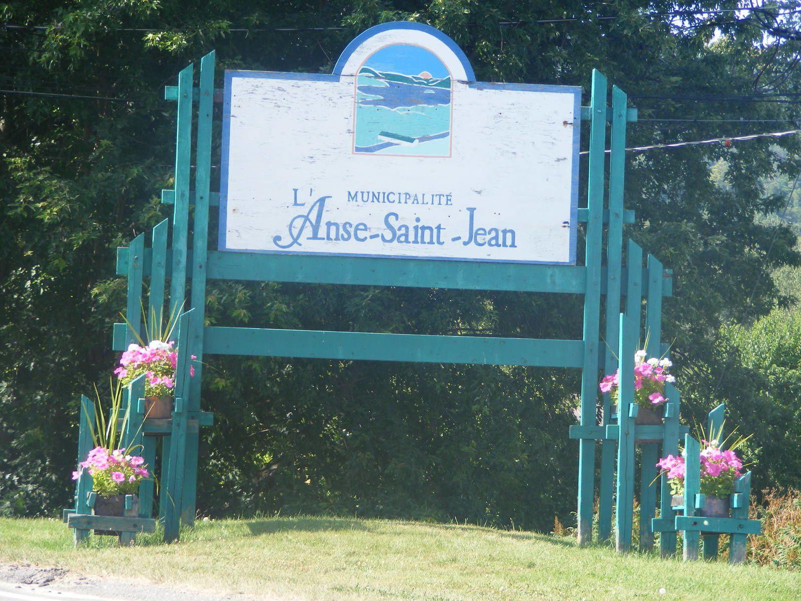 Bienvenue à L'Anse-Saint-Jean