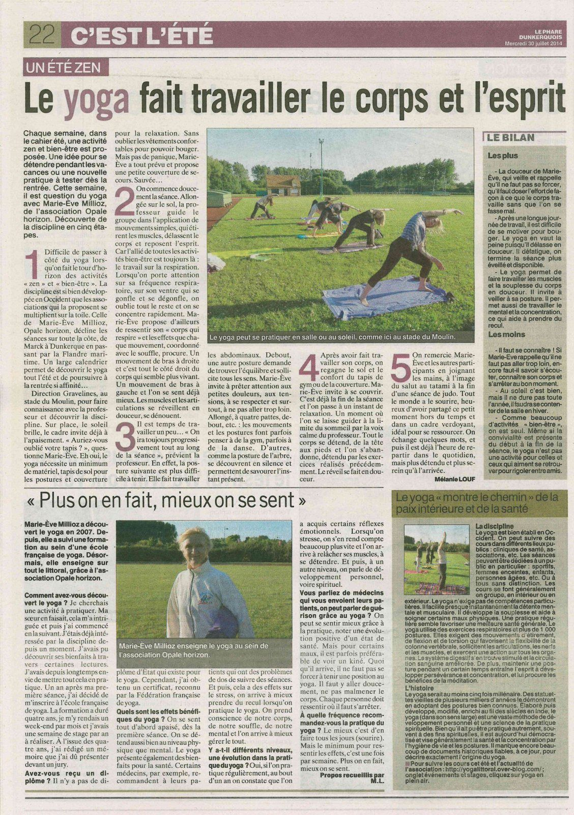 Article du journal Le Phare Dunkerquois