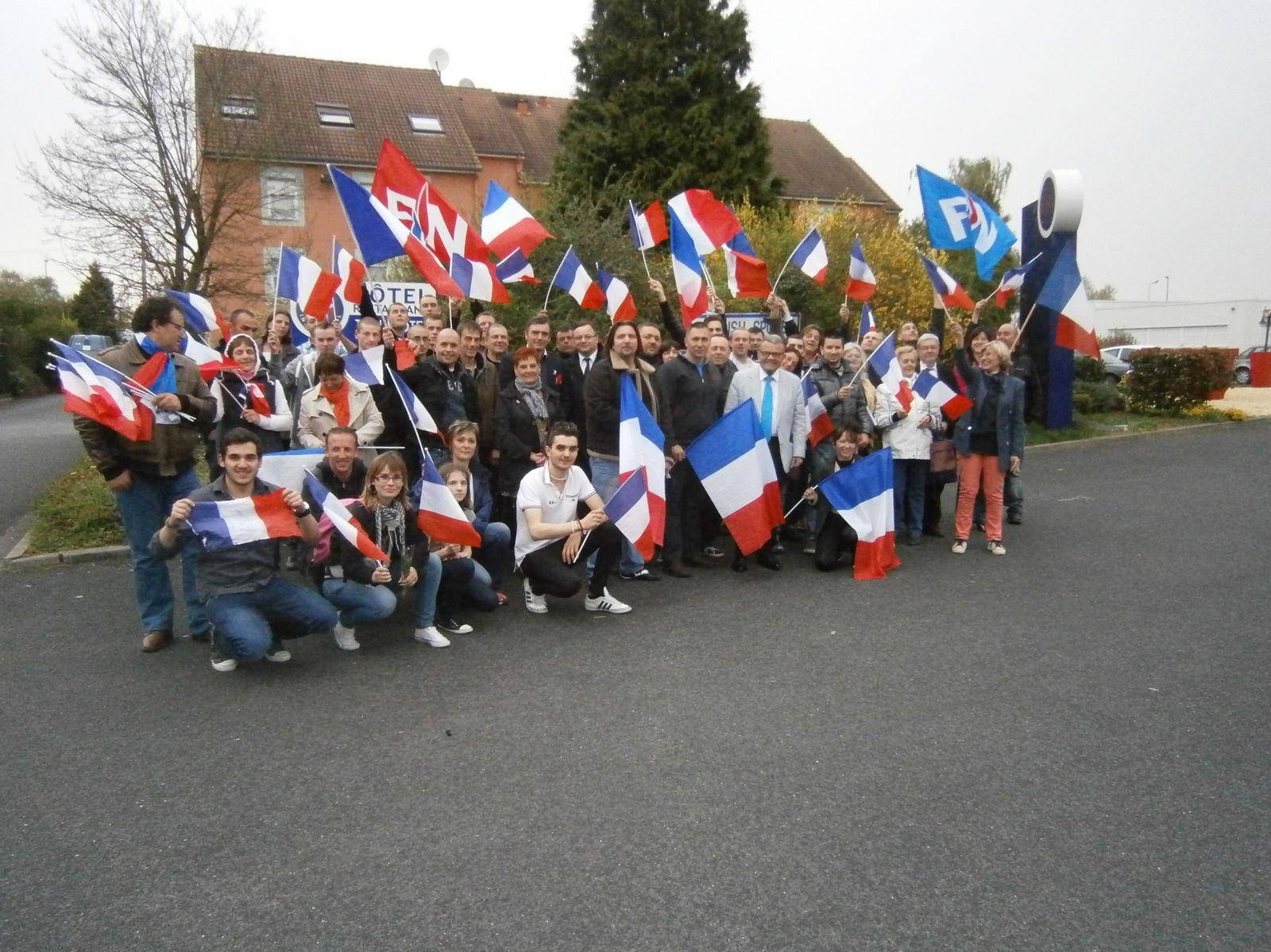 Déplacement des militants FN Nord-Hainaut le 1er mai à Paris