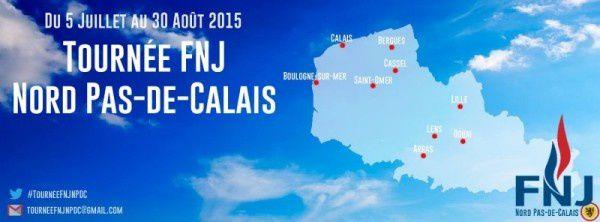 Tournée d'été du FNJ, 1er mouvement jeune de France, dans le Nord/Pas-de-Calais