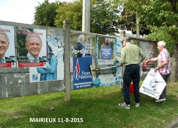 Campagne élections régionales 2015, &quot&#x3B;Je veux Marine&quot&#x3B; : affichage massif dans tout le Nord-Hainaut