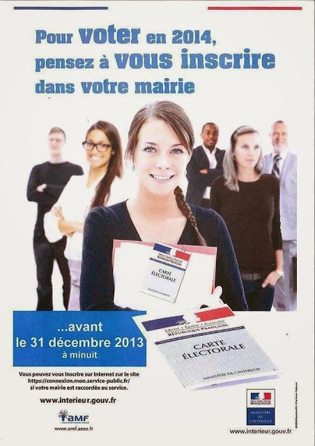 Pour voter : inscrivez-vous avant le 31 décembre.