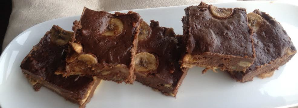 Brownies bananes-pécan Chocolat (De C.Michalak)