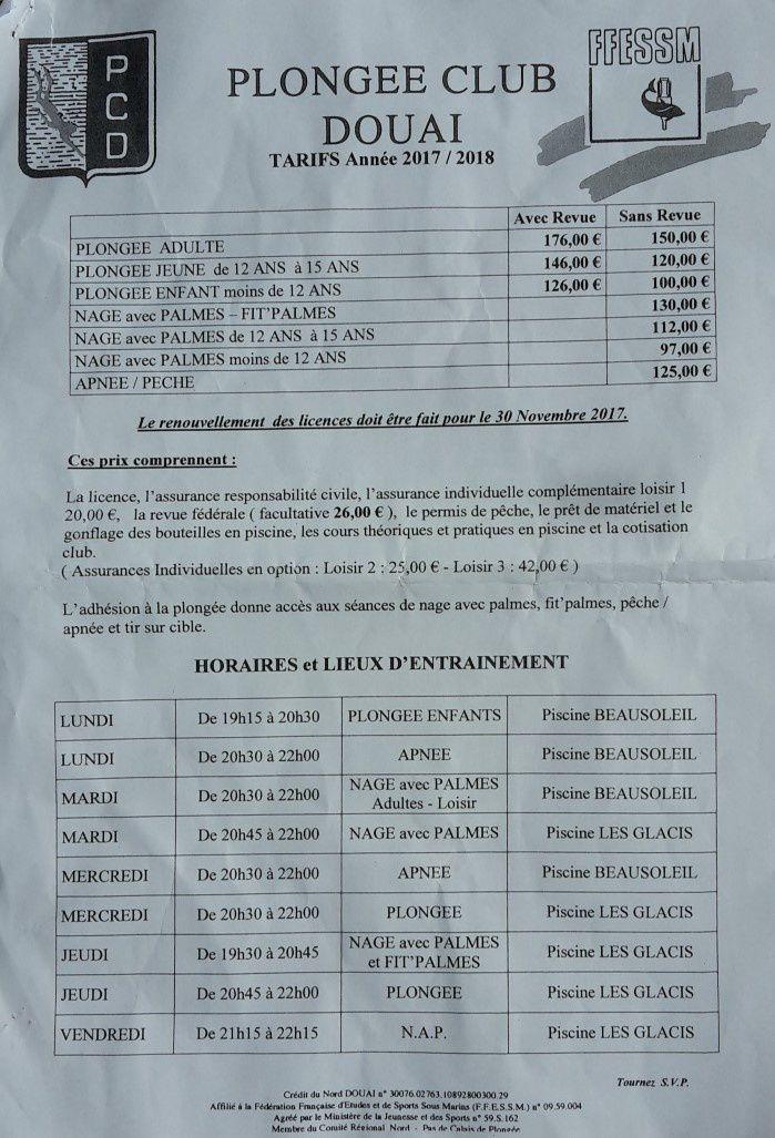 Infos Licences