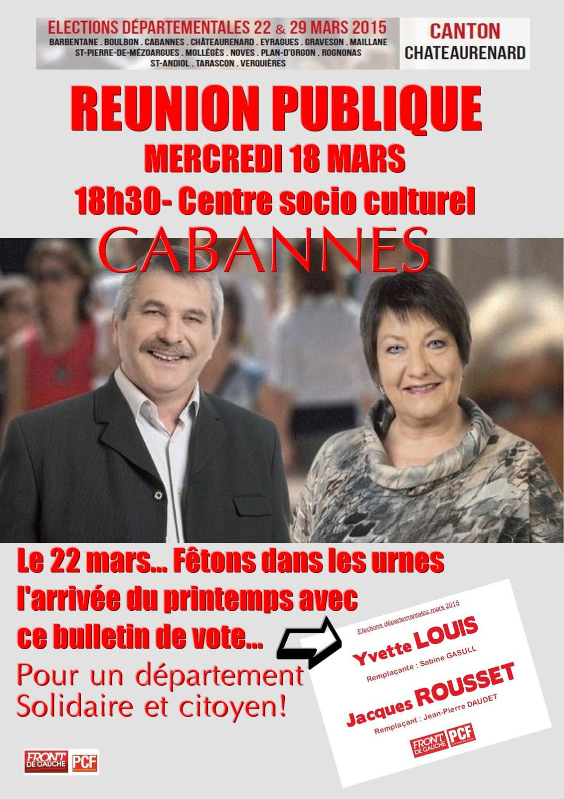 INVITATION...Mercredi 18 mars - 18h30 - centre socio culturel