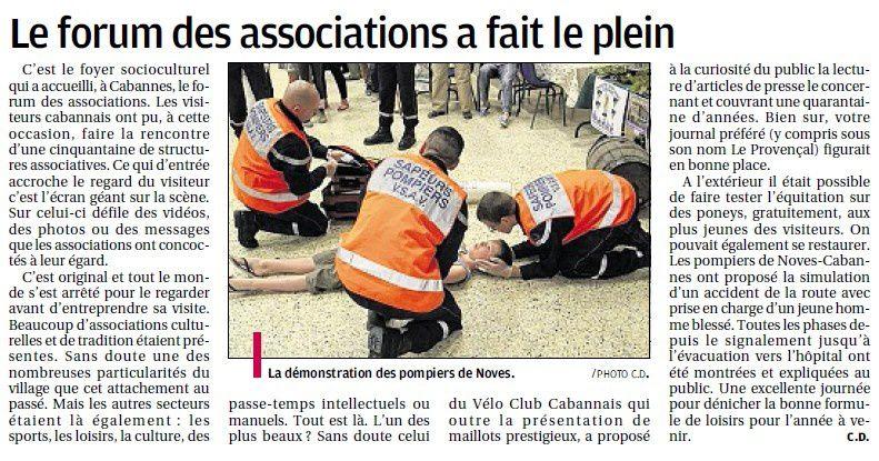 Logements sociaux (enfin!) et forum des associations...Lu dans le journal la Provence.