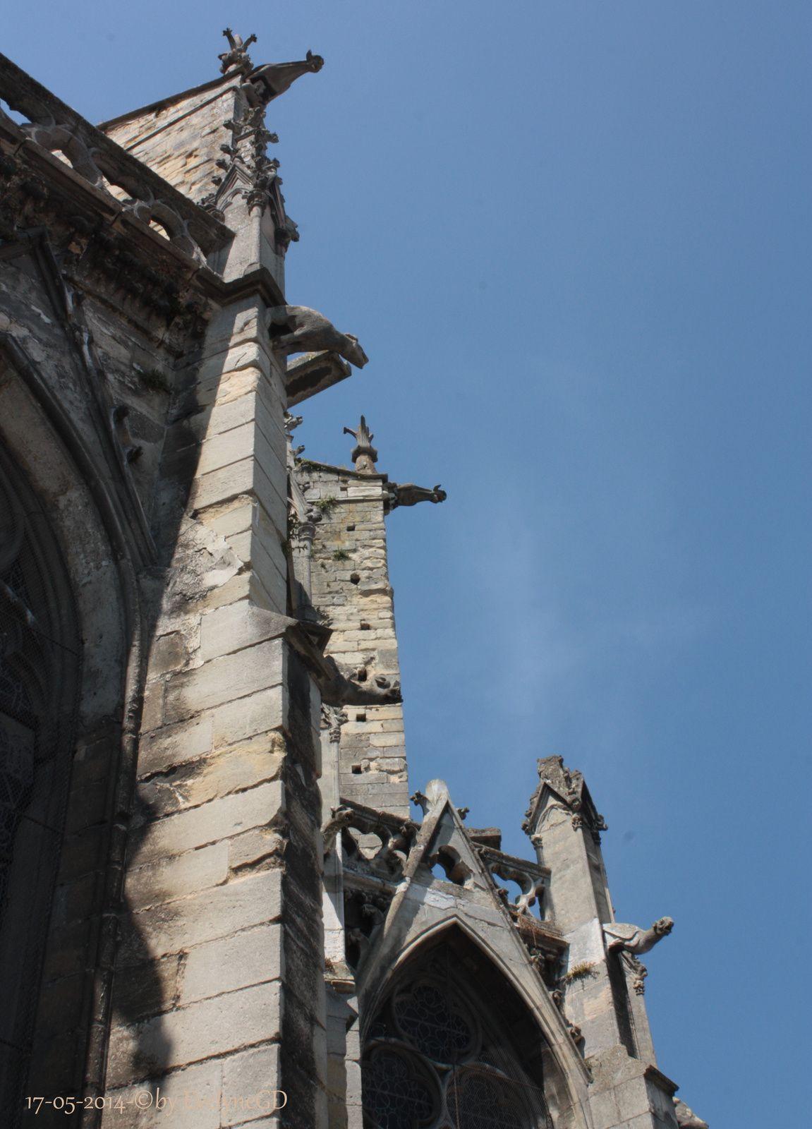 ...et les gargouilles qui se découpent dans le ciel bleu...