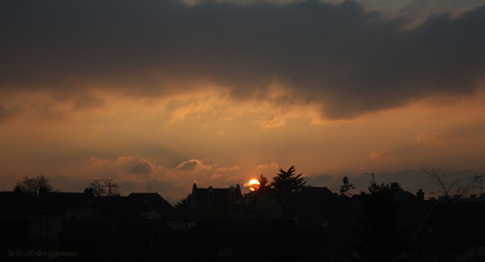 7 minutes, 11 photos pour un coucher de soleil...