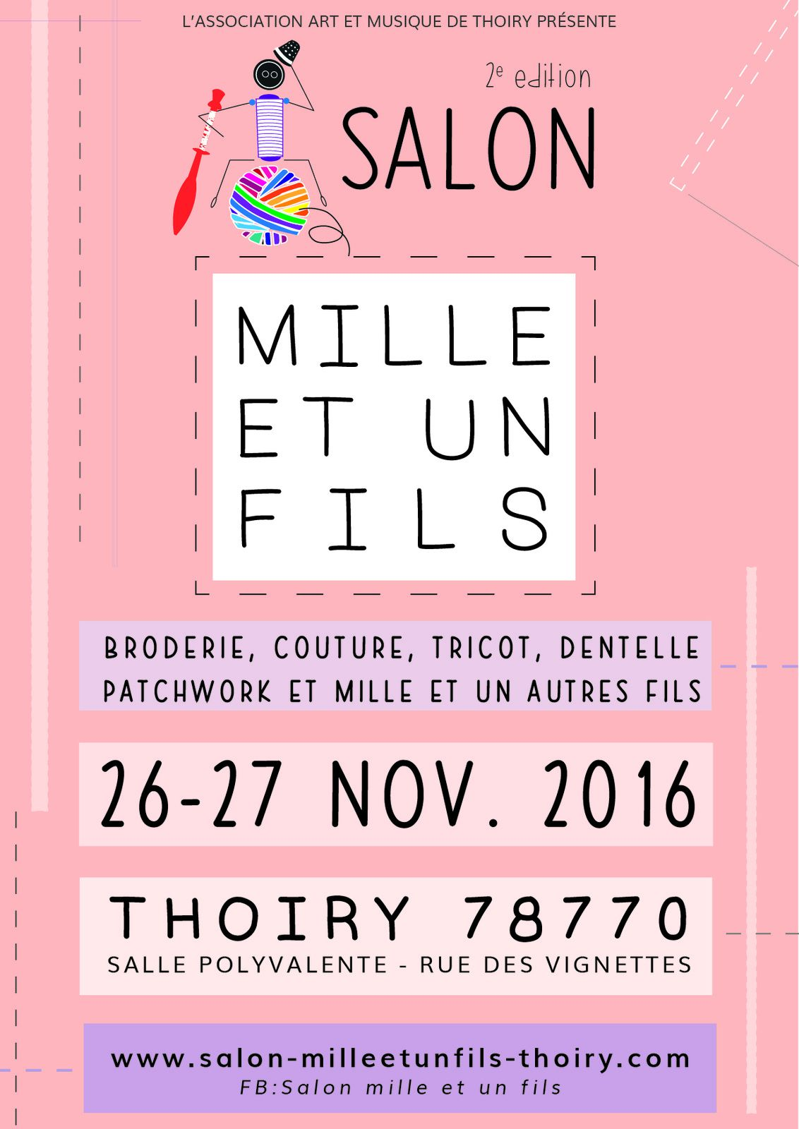 Thoiry 78, dernier salon de broderies et black friday