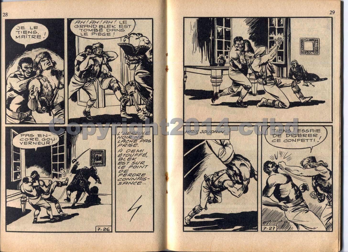 Blek le Rock- bimensuel n°4 de 1963 - pages 12 à 23