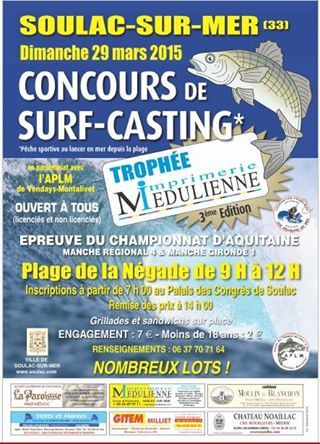 Concours surfcasting soulac 2015