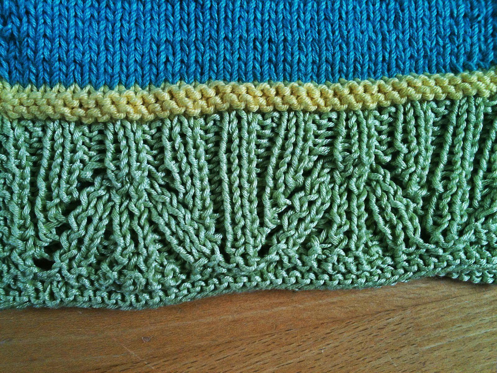 Un gilet bien long (long aussi à tricoter...)