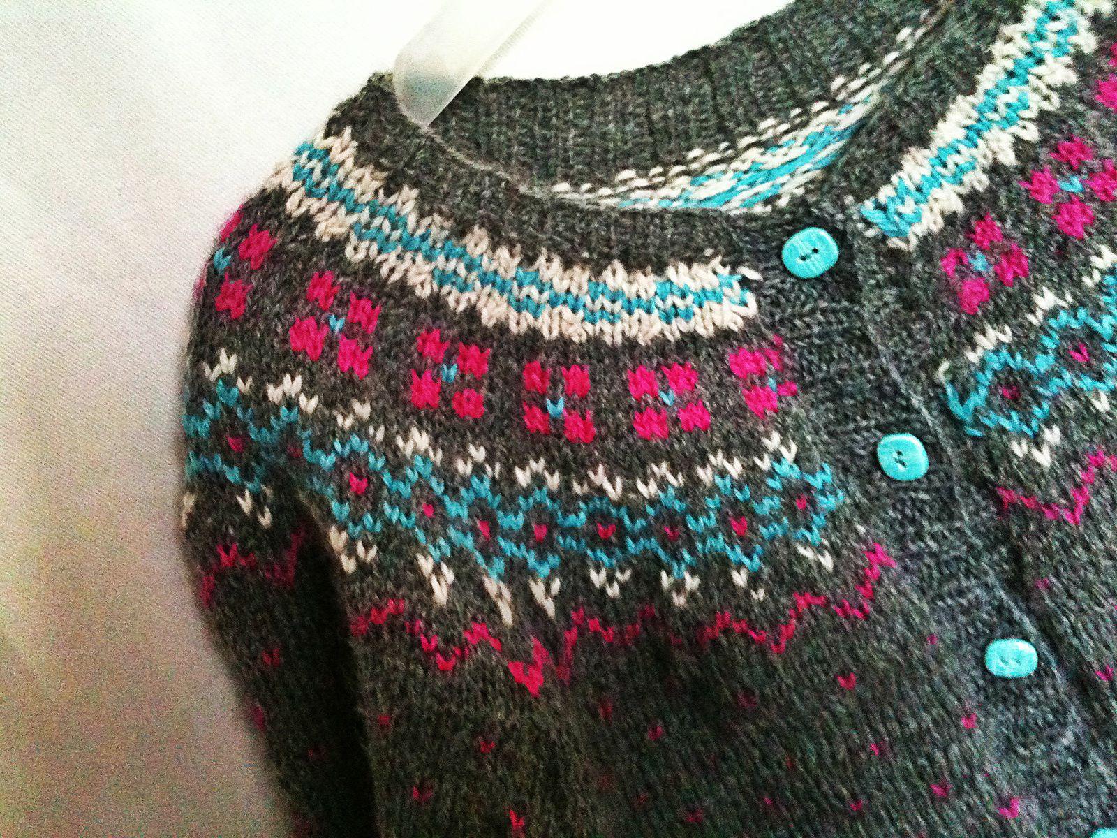 Ouf ! Fini... mon tricot-long-cours... ce boulet bien-aimé!