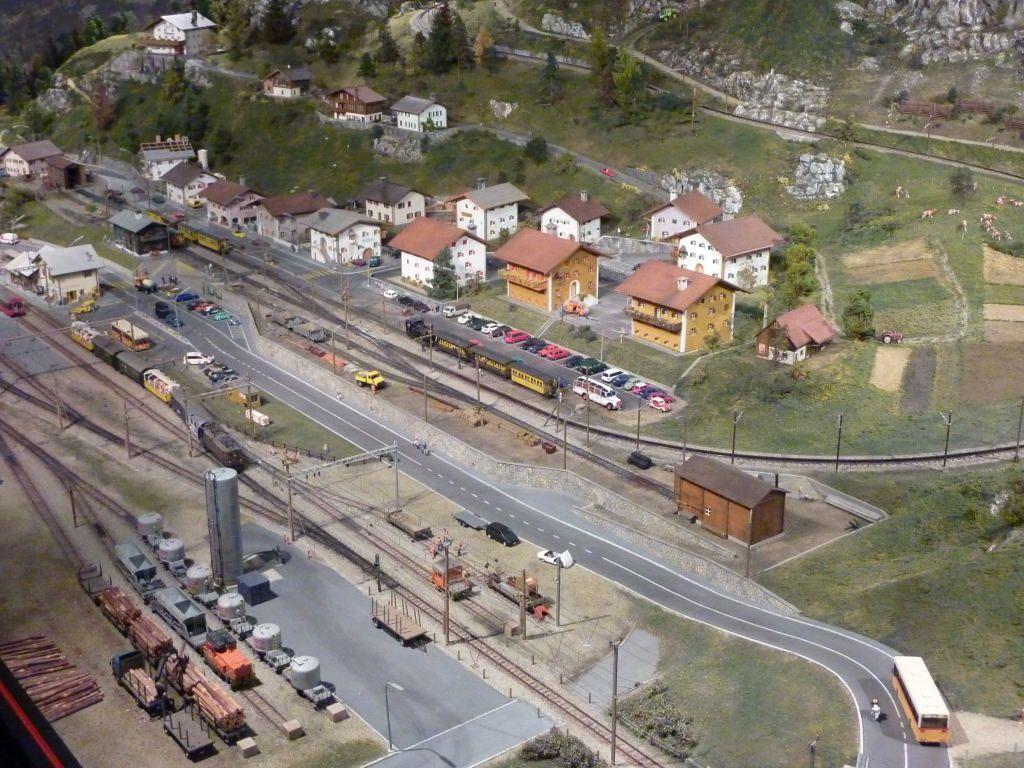 Vue aérienne de la gare de Kaeserberg.