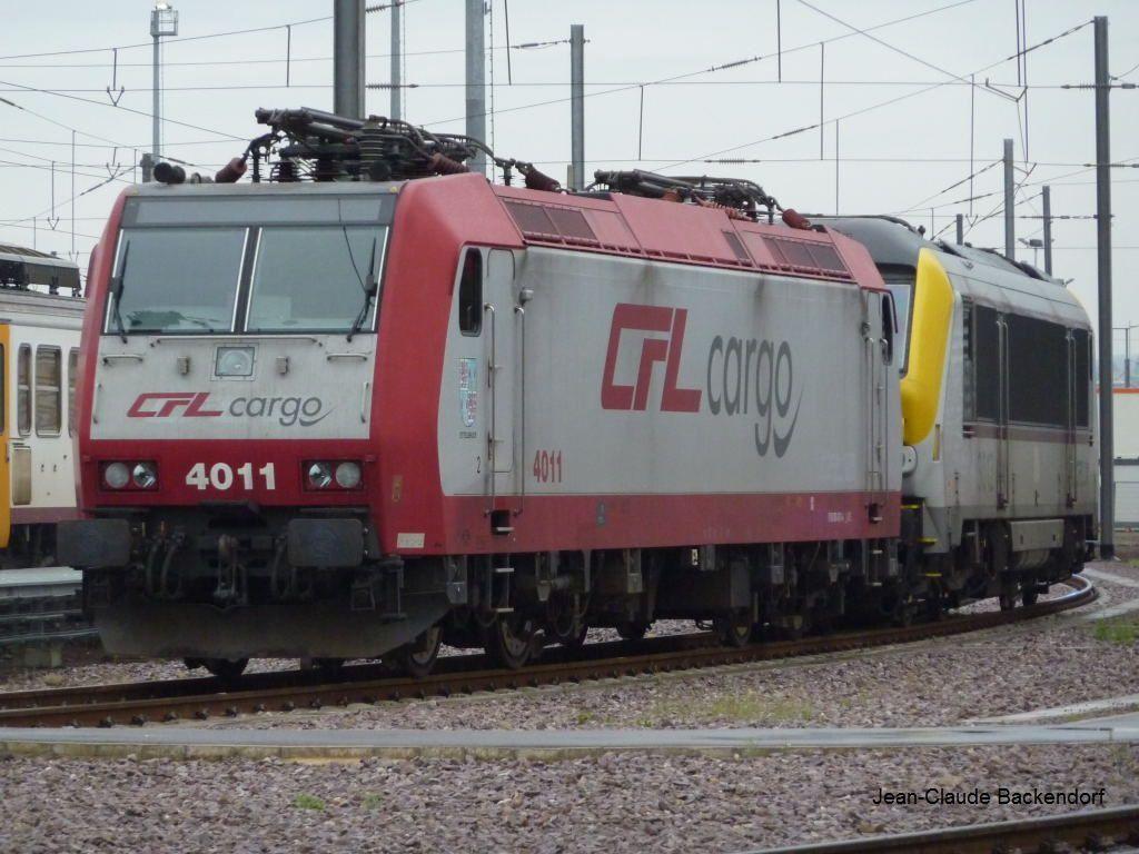 La CFL4011 au dépôt de Luxembourg.