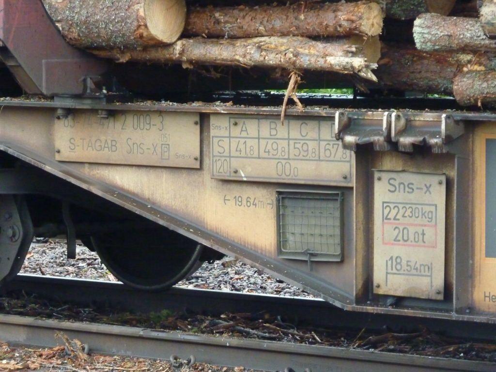 Un train de bois en Suède