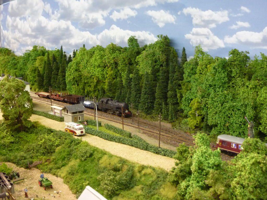 La gare de Leudelange en miniature