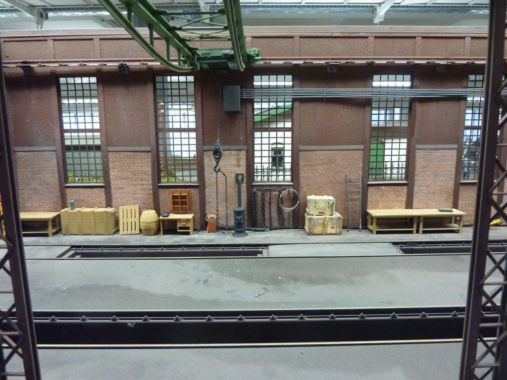 Photos d'une maquette d'un atelier traction diesel.