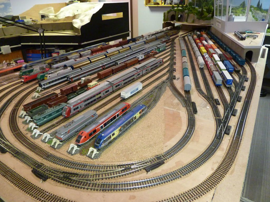 La zone de garage des trains.