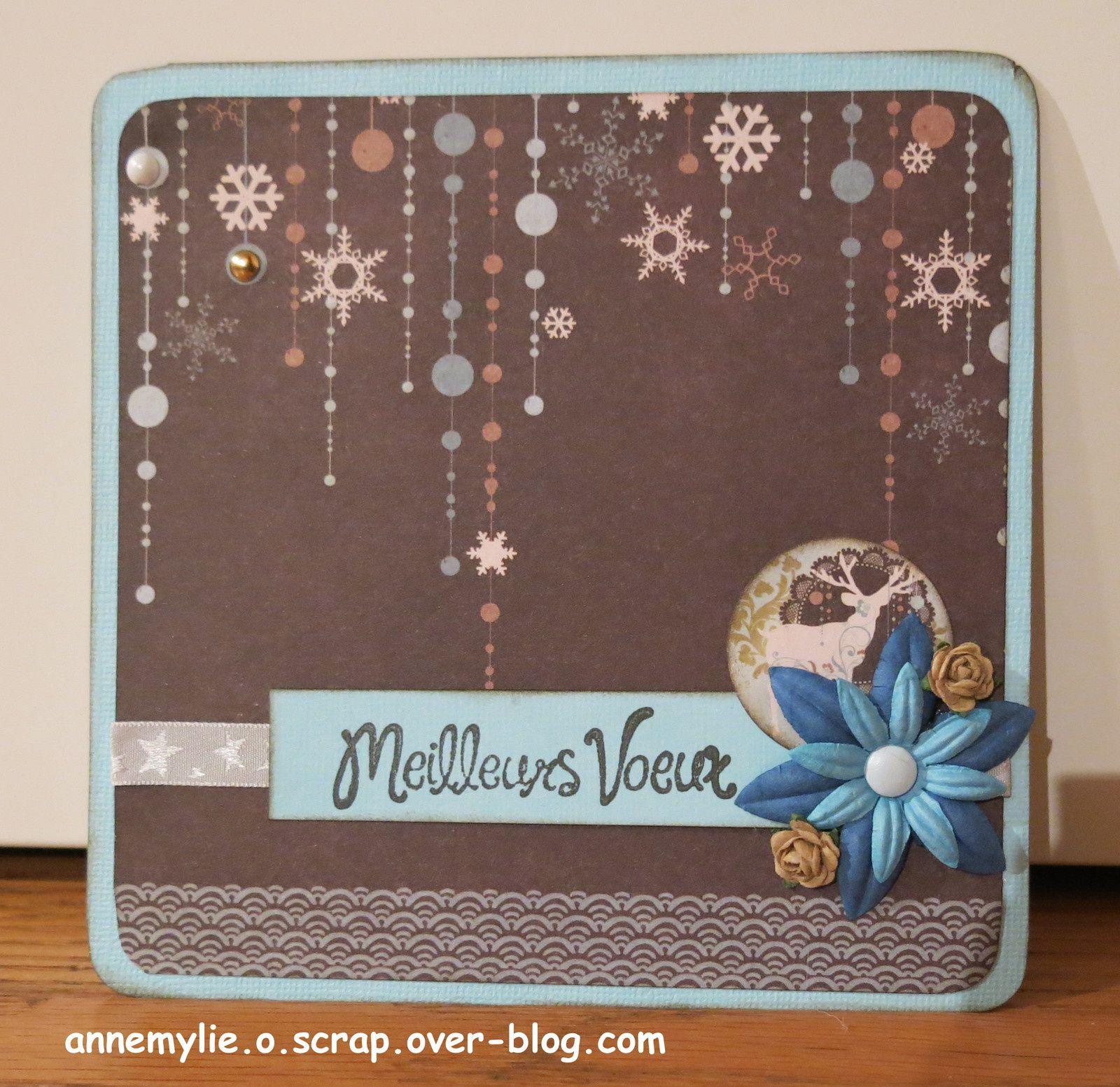 cartes de fin d'année en bleu et marron