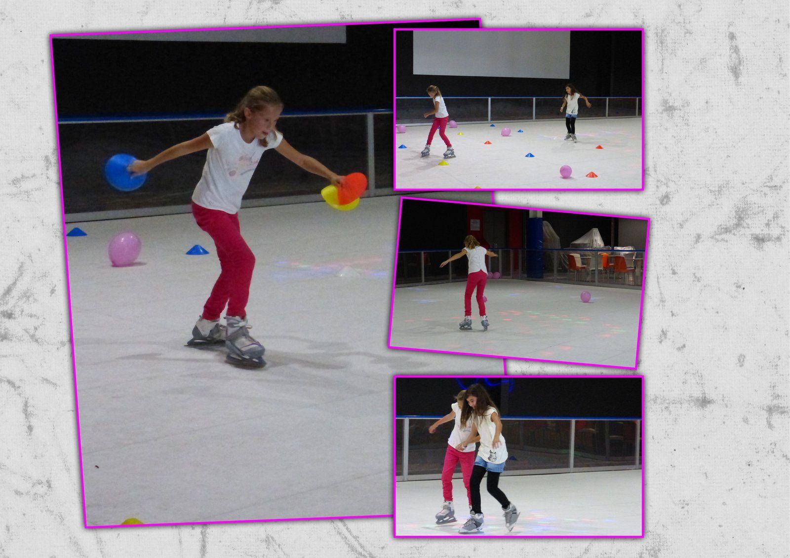 Jade à la patinoire.
