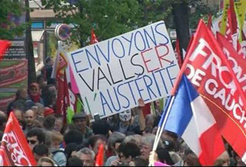 Le 12 avril, la gauche était dans la rue contre l'austérité