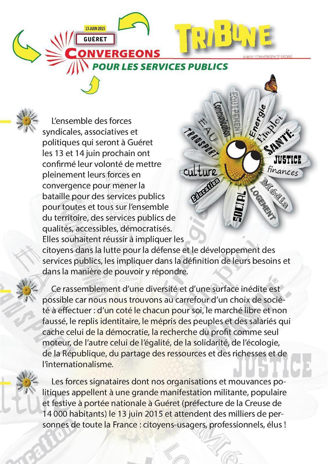 Le service public est notre bien commun, manifestation nationale le 13 juin à Guéret !