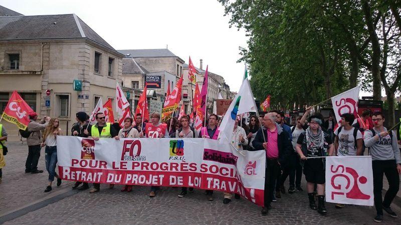 Contre la Loi travail, encore plus de manifestants le 26 mai à Niort