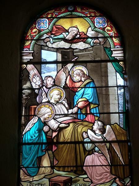 La mort de Saint Joseph. (de chaque côté de la nef.)