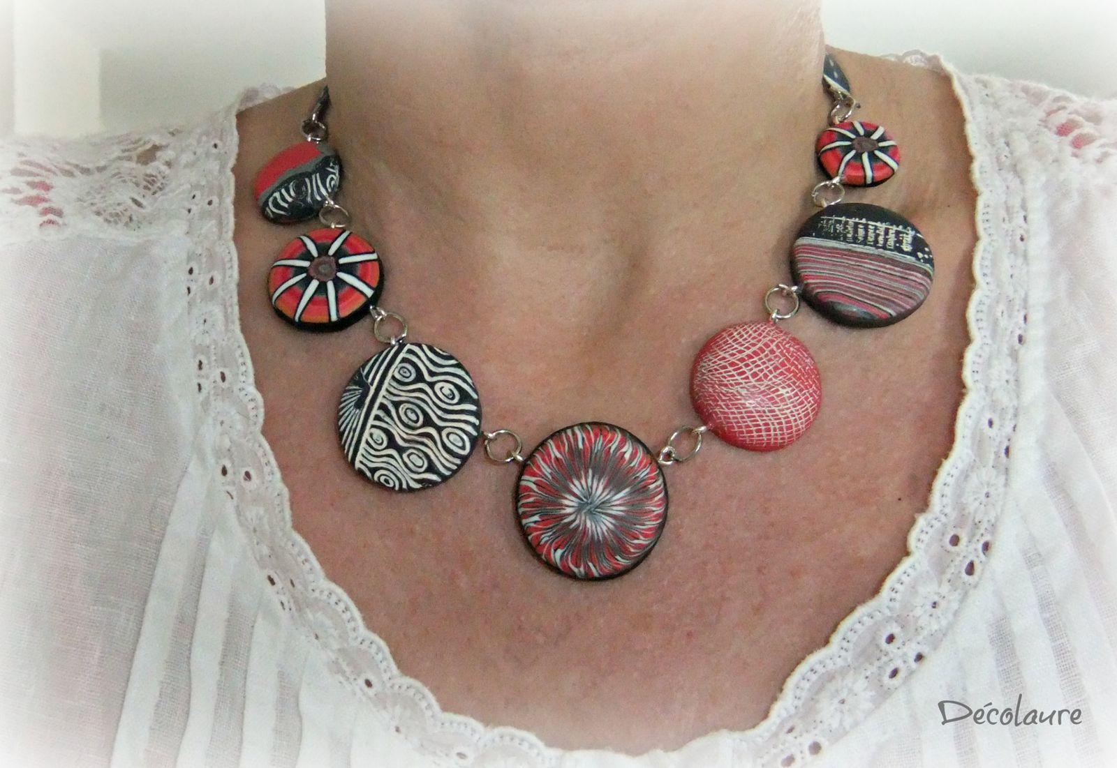 &quot&#x3B;Bijoux en  fimo  série  corail  et  gris ...&quot&#x3B;