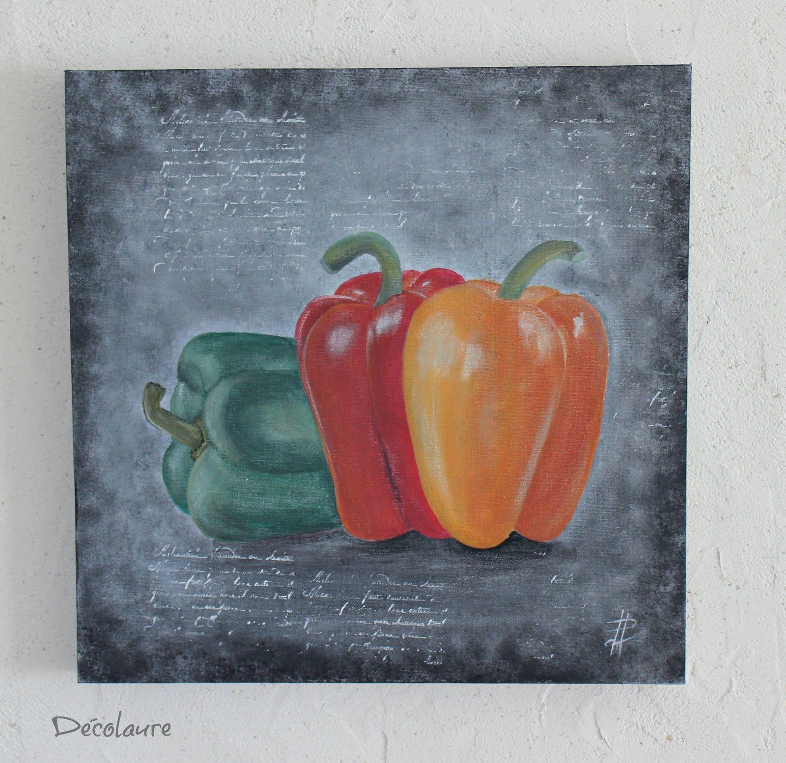 &quot&#x3B; Trio de  tableau  : poivrons, chou et coloquinte ...&quot&#x3B;