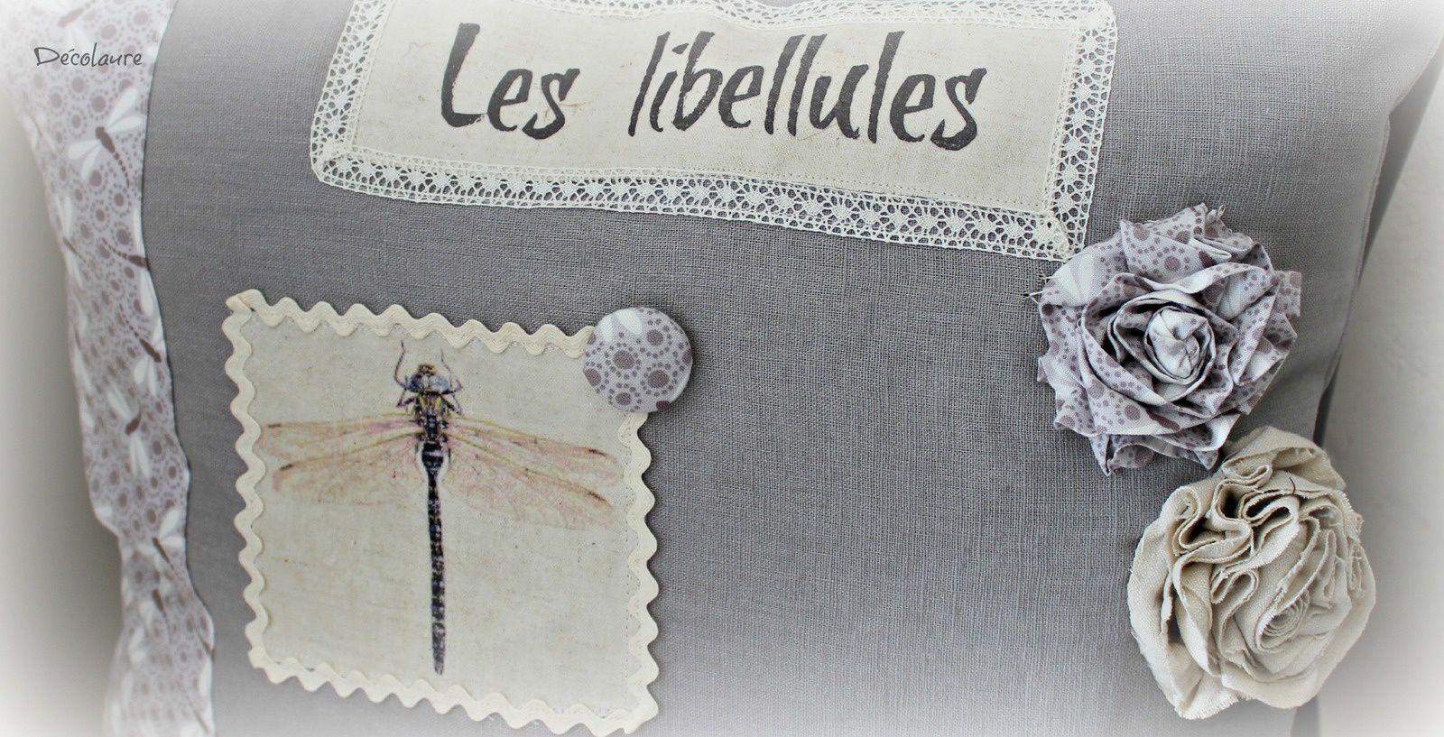 &quot&#x3B;Coussin libellules ...&quot&#x3B;