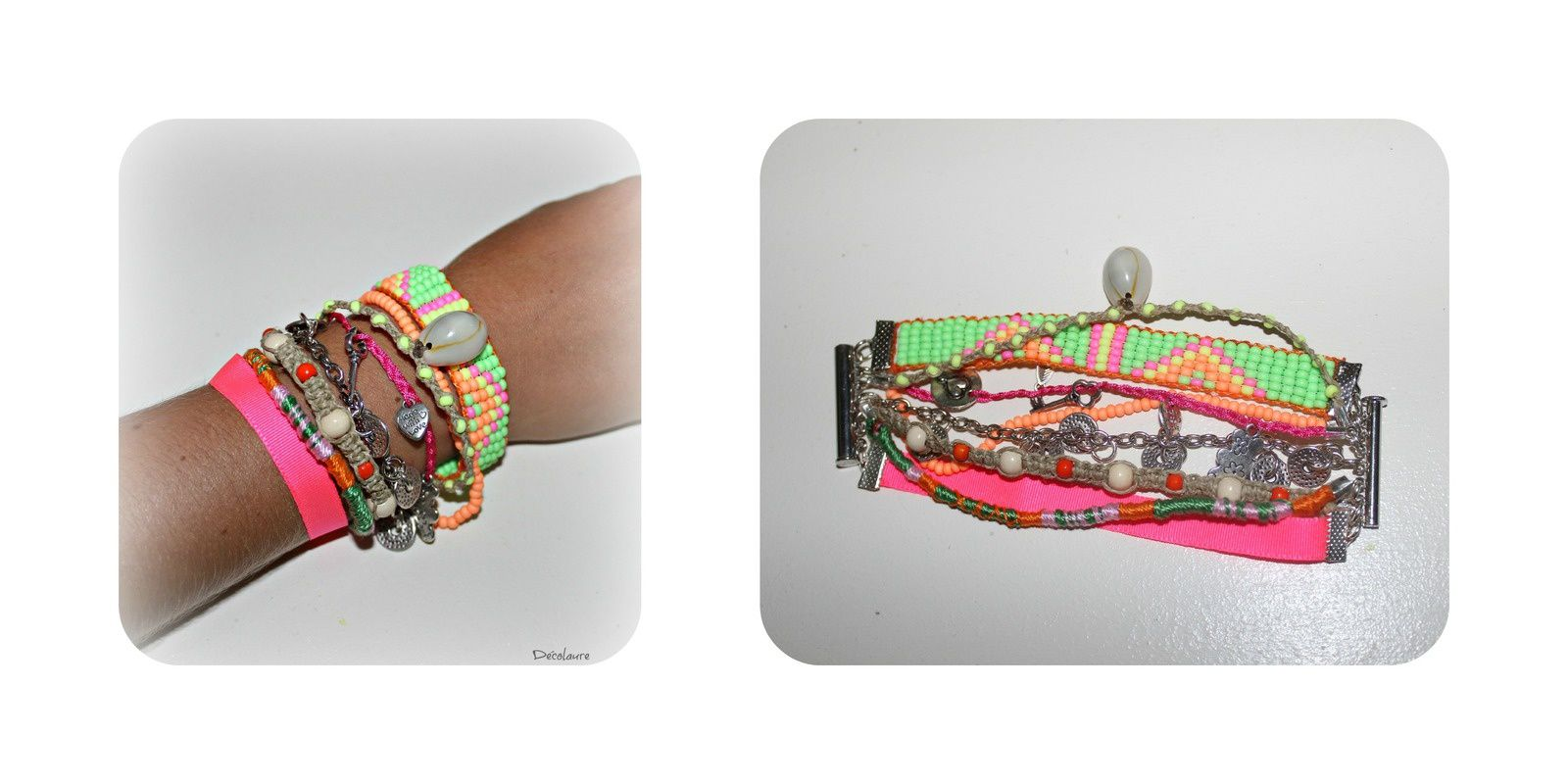 &quot&#x3B;Bracelet multi-rangs  fluo ...&quot&#x3B;