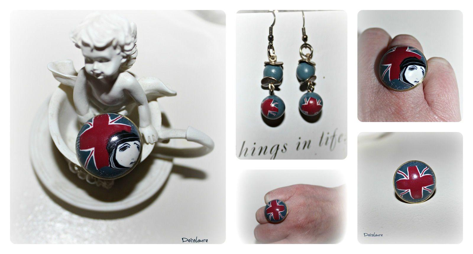 &quot&#x3B;A  l 'heure  anglaise ...bijoux fantaisies en fimo&quot&#x3B;