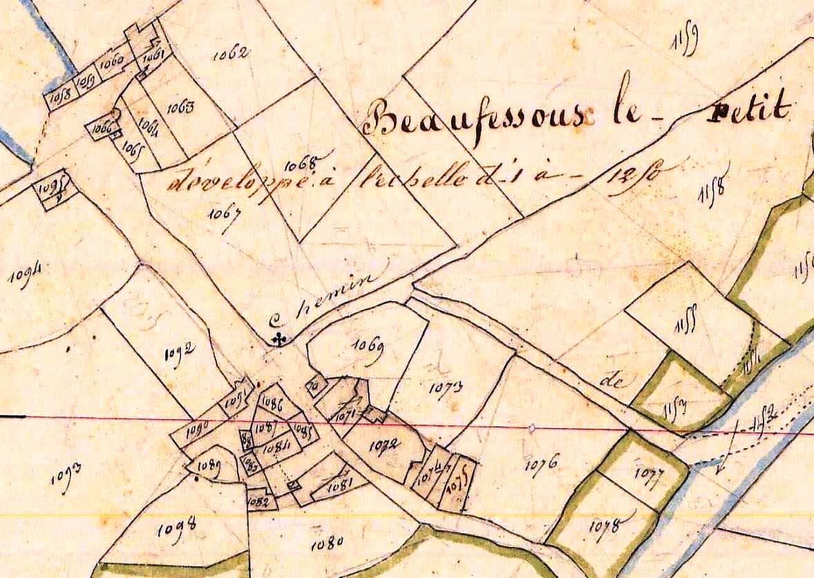 Beaufessoux-le-Petit en 1834