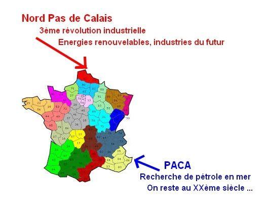 Provence-Côte d'Azur / Nord Pas de Calais : les opposés 1