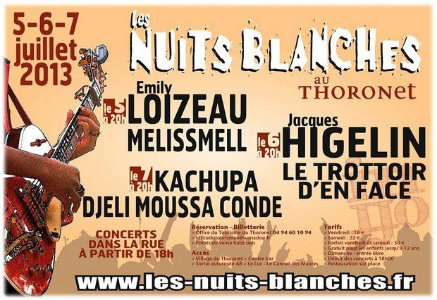 Nuits blanches 2013 - Le Thoronet - Var