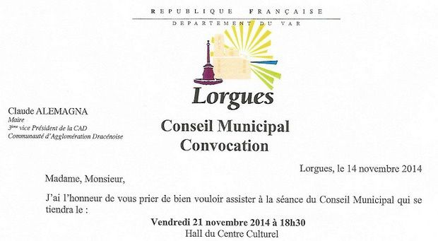 Lorgues, prochaines séances : Cinéma et Conseil Municipal