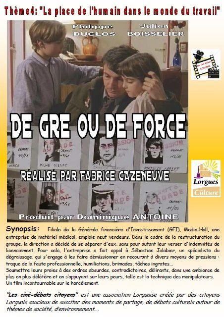 Ciné-débat à Lorgues : le harcèlement au travail