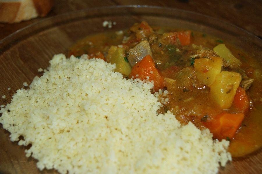 Couscous d'agneau et légumes