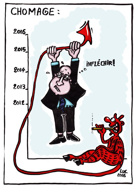 #chomage #courbe #hollande #inflechir #hausse