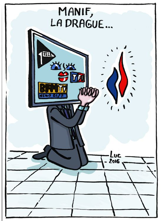 #manif #Television #chaines #itele #bfm #tf1 #manipulation #drague #enfumage #etc