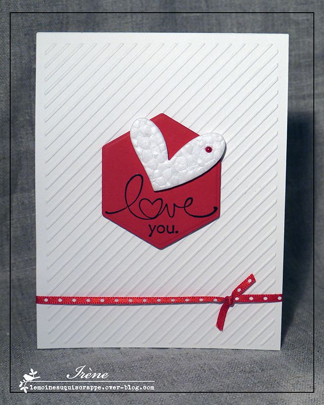 Une carte de St-Valentin Clean &amp&#x3B; Simple en Lilly Pot'Colle