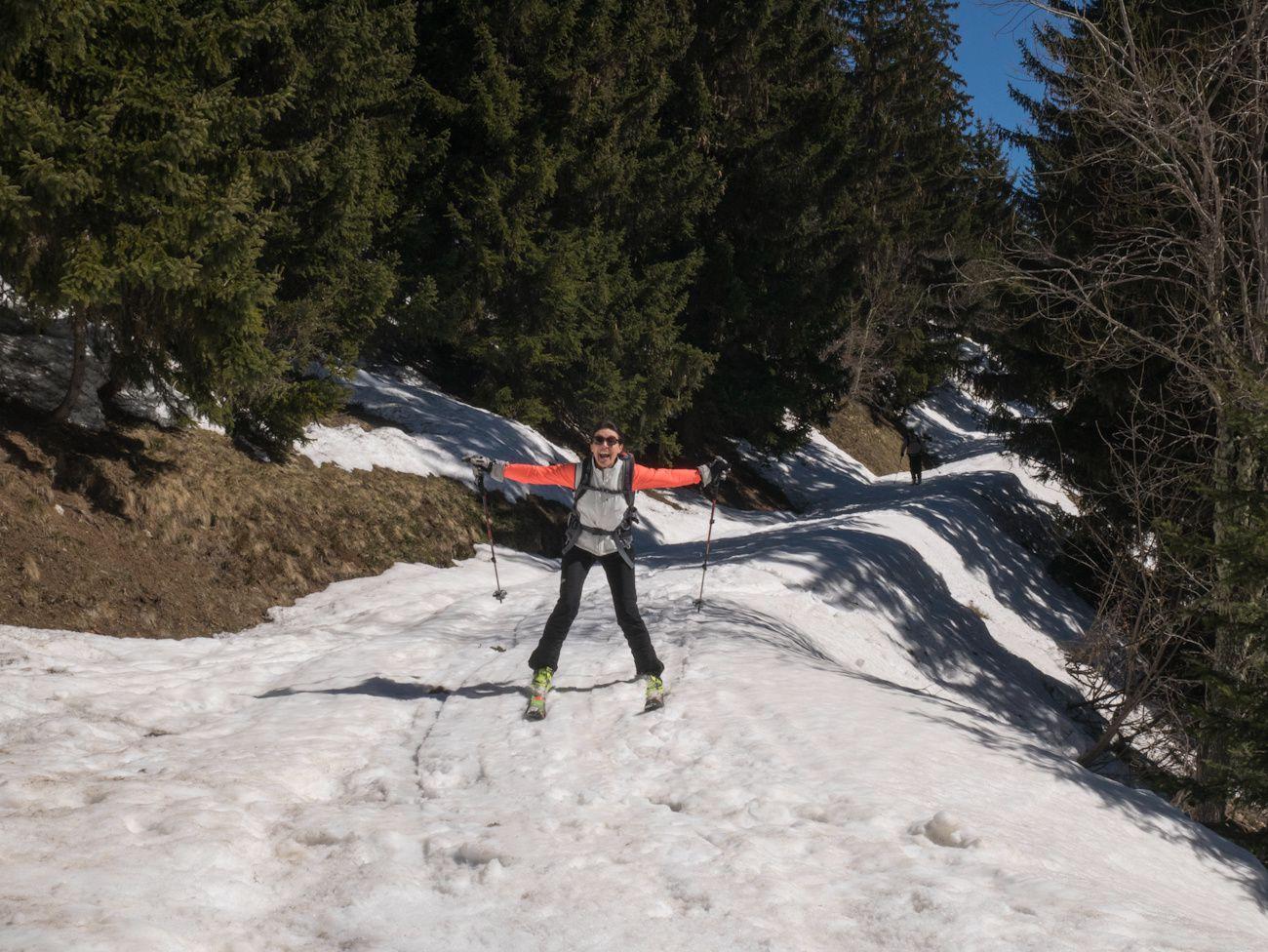 Ski de rando autour de Celliers J4