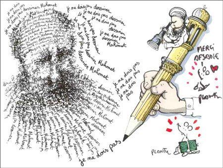 Dessin de Plantu publié lors de l'affaire des caricatures (Le Monde, 2006)
