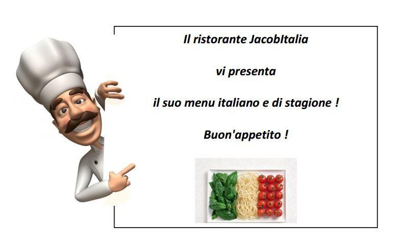 Benvenuti al Ristorante JacobItalia !