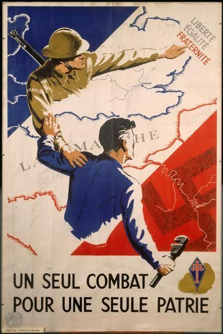 Document 1. Un seul combat pour une seule patrie, affiche éditée par la « France libre », 1943-1944